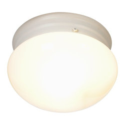 Premier - 6 inch Ceiling Light - White - AF Lighting 671318 7in. D by 5in. H Ceiling Fixture, White Finish.