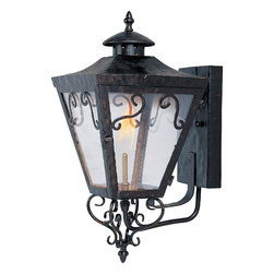 Joshua Marshal - Oil Rubbed Bronze Clear Glass Wall Lantern - Oil Rubbed Bronze Clear Glass Wall Lantern