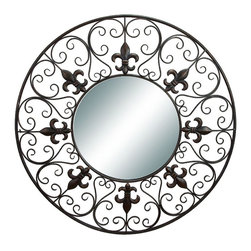 Benzara - Metal Wall Mirror Fabrication Makes It Elegant - METAL WALL MIRROR is an excellent anytime low priced wall decor upgrade option that is high in modern age decor fashion. It is beautifully sculptured by the experienced artists as ultimate fabricated wall space decoration example.