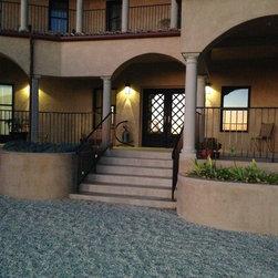 Custom California Home - Solar LED Paver Lights -