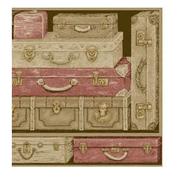 Vintage Luggage Wallpaper from York Wallcoverings - York Wallcoverings