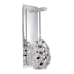Allegri - Allegri 11101-010-FR000 Veronese 1 Light Wall Sconces in Chrome - This 1 light Wall Bracket from the Veronese collection by Allegri will enhance your home with a perfect mix of form and function. The features include a Chrome finish applied by experts. This item qualifies for free shipping!