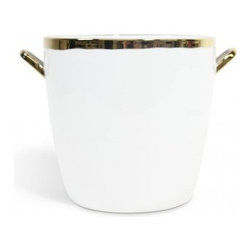 Gold Ice Bucket - When you're channeling Don Draper, it's important to have the right ice bucket to use for your cocktails. This one, made of porcelain with a metallic gold glaze, will go with everything you have and give your cocktails that little je ne sais pas quoi.
