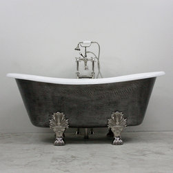 "2014 Cast Iron Bathtubs - 'The Thornton' 68"" Cast Iron French Bateau Tub Package"
