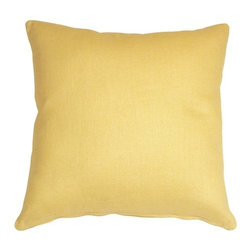 Pillow Decor - Pillow Decor - Tuscany Linen Banana Yellow 18 x 18 Throw Pillow - The Tuscany Linen 18 x 18 Throw pillows are 100% linen with a soft natural linen touch and texture. Available in a range of colors and sizes, these linen pillows are ideal solid color accent pillows for your bed or sofa. Mix and match to complement other accent colors in your home.