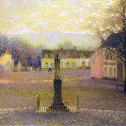 "Henri Le Sidaner A Small Villa in Afternoon - 18"" x 24"" Premium Archival Print - 18"" x 24"" Henri Le Sidaner A Small Villa in Afternoon premium archival print reproduced to meet museum quality standards. Our museum quality archival prints are produced using high-precision print technology for a more accurate reproduction printed on high quality, heavyweight matte presentation paper with fade-resistant, archival inks. Our progressive business model allows us to offer works of art to you at the best wholesale pricing, significantly less than art gallery prices, affordable to all. This line of artwork is produced with extra white border space (if you choose to have it framed, for your framer to work with to frame properly or utilize a larger mat and/or frame).  We present a comprehensive collection of exceptional art reproductions byHenri Le Sidaner."