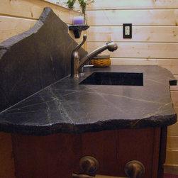 Saratoga Soapstone Vanity Top - Creative Saratoga Soapstone vanity top