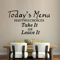 ColorfulHall Co., LTD - Kitchen Wall Art Today'S Menu Take It Or Leave It - Kitchen Wall Art Today'S Menu Take It Or Leave It