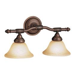 Kichler Lighting - Kichler Lighting 6492OZ Broadview 2 Light Bathroom Vanity Lights in Olde Bronze - Bath 2Lt