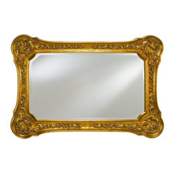Afina - Timeless Tradition Oversized Rectangle Mirror - 36W x 24H in. - TT-114-GD - Shop for Bathroom Mirrors from Hayneedle.com! The Timeless Tradition Oversized Rectangle Mirror brings a classic style to any wall space. This large rectangular beveled edge mirror features a detailed wood frame with rounded corners and intricate filigree embellishments. It is the perfect way to open up any living or dining space or add depth to a hallway or foyer. Available in antique gold antique white or antique silver finishes. Hang either vertically or horizontally to fit a variety of settings.About AfinaAfina Corporation is a manufacturer and importer of fine bath cabinetry lighting fixtures and decorative wall mirrors. Afina products are available in an extensive palette of colors and decorative styles to reflect the trends of a new millennium. Based in Paterson N.J. Afina is committed to providing fine products that will be an integral part of your unique bath environment.