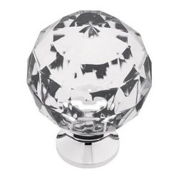 Liberty Hardware - Liberty Hardware P30101-CHC-C Design Facets Cab HW-Liberty 1.53 Inch Round Knob - Add a look of sophistication and luxury to kitchen or bath cabinets with the Faceted Acrylic knob. Multiple finishes available. Installs easily with included hardware and is a noticeable change for any cabinetry.. Width - 1.53 Inch,Height - 1.16 Inch,Projection - 0.39 Inch,Finish - Chrome And Clear,Weight - 0.06 Lbs
