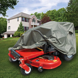 Raider - Raider Zero Turn Tractor Cover - This zero turn lawn tractor is made of a 210 denier polyester fabric. This durable cover features a water- and mildew-resistant construction and will not shrink or stretch.
