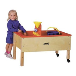 Jonti-Craft Space Saver Sand-N-Water Table - The Space Saver Sand-N-Water Table offers a deep nine-inch table for splash control. Frame is constructed of baltic birch with maple legs fitted with non-marking swivel casters. Drain with valve and birch activity cover is included. Minimal assembly required. With 2 stationary legs and 2 on wheels you'll enjoy the ease of movement anywhere you wish. About Jonti-CraftFamily-owned and -operated out of Wabasso Minn. Jonti-Craft is a leading provider of quality furniture for the early learning market. It offers a wide selection of creatively designed products in both wood and laminate materials. Its products are packed with features that make them safe functional and affordable. Jonti-Craft products are built using the strongest construction techniques available to ensure that your furniture purchase will last a lifetime.