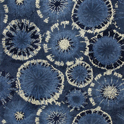 KAS - KAS Allure 4050 Starburst (Blue) 5' x 7' Rug - This Hand Tufted rug would make a great addition to any room in the house. The plush feel and durability of this rug will make it a must for your home. Free Shipping - Quick Delivery - Satisfaction Guaranteed