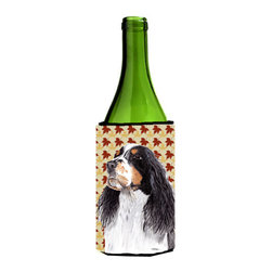 Caroline's Treasures - Springer Spaniel Fall Leaves Portrait Wine Bottle Koozie Hugger - Springer Spaniel Fall Leaves Portrait Wine Bottle Koozie Hugger Fits 750 ml. wine or other beverage bottles. Fits 24 oz. cans or pint bottles. Great collapsible koozie for large cans of beer, Energy Drinks or large Iced Tea beverages. Great to keep track of your beverage and add a bit of flair to a gathering. Wash the hugger in your washing machine. Design will not come off.
