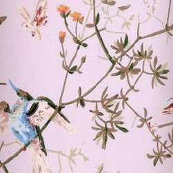 Hummingbirds Wallpaper - It doesn't get more ladylike than the hummingbirds and butterflies on this Cole & Son wallpaper.