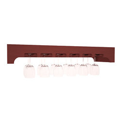 Wine Racks America - Stemware Glass Rack with Arched Panels in Pine, Cherry - Our stemware rack with an arched front panel is a classy way to display your finest crystal. Designed to be installed over any Wine Racks America Tasting Table, create an intimate and functional tasting station. Gracefully displays 18 wine glasses. Your satisfaction is guaranteed.