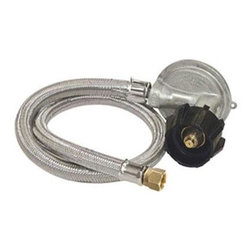 "Barbour International - Hose/Regulator 15-Psi - Bayou Classic 36"" stainless LP Hose, 15-Psi preset regulator for gas grills."