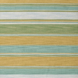 Jaipur Rugs - Flat-Weave Stripe Pattern Wool Blue/Green Area Rug - Bold color is the name of the game with Pura Vida. This beautiful collection of durable, reversible flat-woven dhurries combines the classic simplicity of linear patterns with a decidedly modern palette for a look that's at once casual and sophisticated. Origin: India