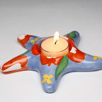 ATD - 5 5/8 Inch Multicolored Floral Sea Star Tealight Candle Holder - This gorgeous 5 5/8 Inch Multicolored Floral Sea Star Tealight Candle Holder has the finest details and highest quality you will find anywhere! 5 5/8 Inch Multicolored Floral Sea Star Tealight Candle Holder is truly remarkable.