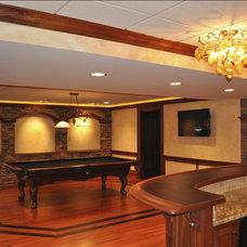Mediterranean Family Room by KAS Interiors, LLC
