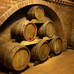 Wallmonkeys Wall Decals - Wine Barrels Wall Mural - 52 Inches W x 38 Inches H - Easy to apply - simply peel and stick!
