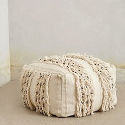 Anthropologie - Glacial Fringe Pouf - *An Anthropologie exclusive