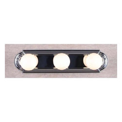 "Volume Lighting - Volume Lighting V1123 18"" Width 3 Light Bathroom Vanity Strip - 18"" Width Three Light Bathroom Vanity Stripilluminate your powder room with this lovely 3 light vanity strip which features several stunning finishes to fit your decor.Features:"