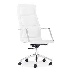 ZUO MODERN - Luminary High Back Office Chair White - Luminary High Back Office Chair White