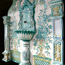 Mediterranean Outdoor Fountains And Ponds by Exquisite Ceramics