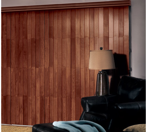 Bali - Bali Northern Heights Wood Vertical Blinds - With Bali Wood vertical blinds, you no longer have to compromise when it comes to large windows and patio doors - coordinate your horizontal wood blinds with Bali's unique wood verticals!