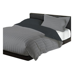Reversible Duvet Set W/2 Extra Pillowcases 500 TC Silver Grey Elephant Grey Twin - There is no right fabric. There is only fabric that is right for you. Your own personal taste and your intended use should dictate your choice. Egyptian cotton sheets are smooth, strong and comfortable and relatively easy care. Egyptian cotton has the longest fibers that when spun produce the smoothest yarns for weaving. The result is the most comfortable cotton fabric.