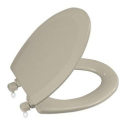 KOHLER - KOHLER K-4712-T-G9 Triko Elongated Molded Toilet Seat - KOHLER K-4712-T-G9 Triko Elongated Molded Toilet Seat with Closed-Front Cover and Plastic Hinges in Sandbar