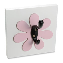 Homeworks Etc - Homeworks Etc Flower Single Wall Hook, light pink - Decorative flower themed wall hook for the nursery and kids room.  Great for hanging towels, clothes, and more.