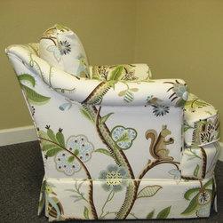 Custom Chair with Thibaut Fabric -