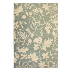 "American Rug Craftsmen - Serenity Colonial Park Sage Transitional Floral 9'6"" x 12'11"" American Rug - Our Serenity Collection features traditional motifs with updated color that strike the perfect balance of sophistication and tranquility. A soft and soothing color palette consisting of 30 colors ranging from mossy greens, blues and earth tones give the collection a flirty, botanical feel. Manufactured entirely in the United States, American Rug Craftsmen"
