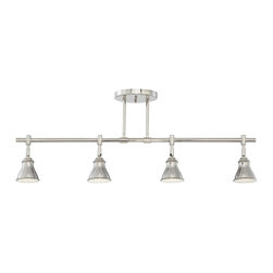 Quoizel - Quoizel 4 Light Quoizel Track Lights Ceiling Track Light - QTR10054IS - This metal-shaded fixture is an elegant nod to the past. The classic Americana styling adds a nostalgic flair to your home. It is available in two fabulous finishes.