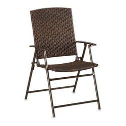 Yotrio Group Co. Ltd./li & Fung - Bistro Folding Wicker Chair - This Bistro Folding Wicker Chair will be a perfect addition to your backyard or front porch. Stylish, functional, and durable.