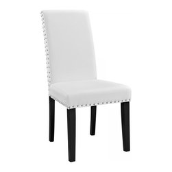 Modway Imports - Modway EEI-1491-WHI Parcel Dining Vinyl Side Chair In White - Modway EEI-1491-WHI Parcel Dining Vinyl Side Chair In White