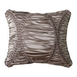 Jennifer Taylor - Jennifer Taylor 15 x 18 in. La Rosa Pillow - 2131-672 - Shop for Pillows from Hayneedle.com! Elegant ruching and ribbon trim detailing on the Jennifer Taylor 15 x 18 in. La Rosa Pillow makes this beauty a gorgeous addition to your bed ensemble. It features a luxurious gray polyester silk cover and comes complete with an insert and may be spot or dry cleaned.About ACG Green Group Inc.ACG Green Group is a home furnishing company based in Irvine California and is a proud industry partner with the American Society of Interior Designers. ACG Green features Jennifer Taylor and Sandy Wilson their exclusive home decor lines. These two complete collections offer designer home furniture bedding sets dining linens curtains pillows and more in classic silhouettes original designs and rich colors to complement your home and life.
