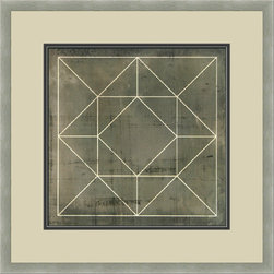 """Mantle Art Company - Vision Studio """"Geometric Blueprint IX"""" fine art print - Beautiful modern art custom framed by designers to bring out the best in this piece of art. Made in the USA"""