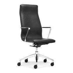 ZUO MODERN - Herald High Back Office Chair Black - Herald High Back Office Chair Black