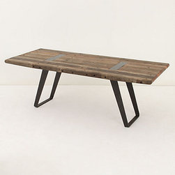 Lindo Dining Table - If money were no issue, I'd buy this table today. I love the rough look of the wood combined with the industrial leg system. This would easily pop in a minimalistic space or a more traditional setting.