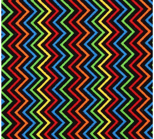 black mini zig zag stripes fabric by Timeless Treasures USA - stripe fabric from the USA with colorful Chevron pattern