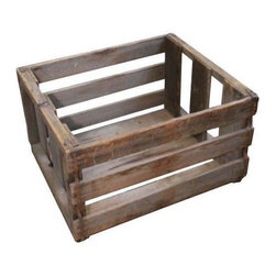 Used Vintage Wooden Vegetable Crate - Price just reduced! This vintage shipping crate is designed to hold vegetables. Great patina! Perfect for stashing and storing anything in your home: newspapers, magazines, towels... you name it!