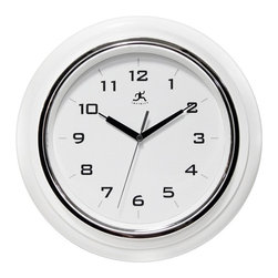 Infinity Instruments - Infinity Instruments Deluxe 13 in. Wall Clock - 14759BK-3780 - Shop for Clocks from Hayneedle.com! If you like things clear simple and direct check out the Infinity Instruments Deluxe 13 in. Wall Clock. This wall clock features accurate quartz movement and precise craftsmanship. A black resin case features a silvery accent. Clear Arabic numerals adorn the no-nonsense face which is compassed by black steel hour and minute hands and a silver-tone aluminum second hand. It's a timepiece you'll appreciate for years to come.About Infinity InstrumentsWhen you need a clock for your home Infinity Instruments offers infinite possibilities of high style at great prices. Located in La Crosse Wisconsin Infinity manufactures a huge selection of decorative clocks for both indoor and outdoor use. You can find clocks designed to make a bold statement in today's larger scale living areas as well as clocks that tuck easily onto a shelf desk or table.Infinity clock faces range from 10 to 38 inches and come in a dazzling array of traditional contemporary retro and thematic styles even handmade glass clocks from Italy. Infinity excels at creative use of materials such as resin wood wicker and metal to make it easy to add color and vibrant personal style to your living space. An Infinity clock is more than just an accessory; it's a piece of art that you use every day.