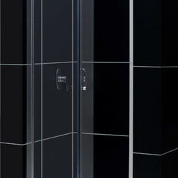 """Dreamline - Butterfly Frameless Bi-Fold Shower Door, Clear 1/4"""" Glass Door - The Butterfly collection of shower doors offers a beautiful frameless design paired with a space saving bi-fold action. The collection includes two models. One is perfect for a standard size shower space, while the other provides a great solution for a small bathroom renovation. The smart bi-fold action allows the panels to slide and fold creating an ample walk-in opening to maximize space. Wall profiles provide a flexible installation with adjustability for width and out-of-plumb walls."""