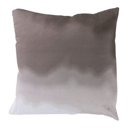 Surya - Ombra, Charcoal, 18x18 Pillow - The ombre design of this pillow brings a soft wave of color to furniture, giving the room a beachy feel.These 100% cotton pillows are complete with a down insert.