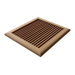 Welland - Welland Louvered Solid Wood Wall Ceiling Vents Unfinished Multiple Size Species, - Feature:
