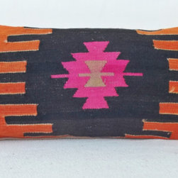 Turkish Kilim Lumbar Pillow Cover, Orange/Black/Pink by Sheepsroad - I think this one would look fantastic on a guest bed. Throw on some white bedding with an orange border, and voilà — you're ready for company!